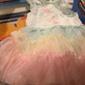 Little Me Dresses - Euc 12 month butterfly dress with puffy skirt